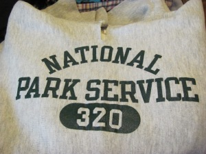 Also representing the National Park Service with Dad's old sweatshirt