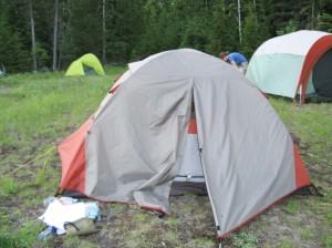 All set up at camp!