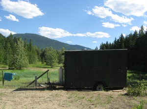 The shower trailer - two out of the three stalls worked, but the pilot light (and therefore, hot water) only stayed on consistently in one shower so it could be an adventure!