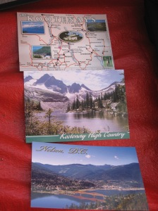 Oops! Forgot that I did get something in Nelson: postcards!