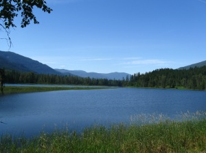 The Slocan River - from the other side!