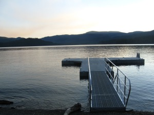 The dock at sunset
