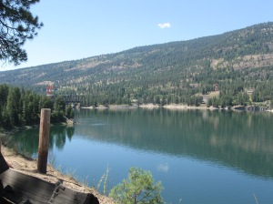 Where Kettle Falls used to be.  Now the falls lie under the water's surface.
