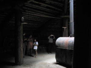The inside of the pithouse was impressively large.
