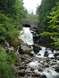 The waterfall - if you look closely, you can see us standing off to the left side. Photo credit: Anna
