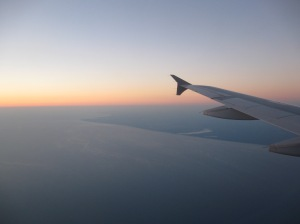 Nothing more beautiful than flying over Lake Michigan at sunset, looking at home near Michigan's shore.