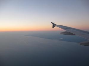 Nothing more beautiful than flying over Lake Michigan at sunset, looking at home near Michigan's shore.